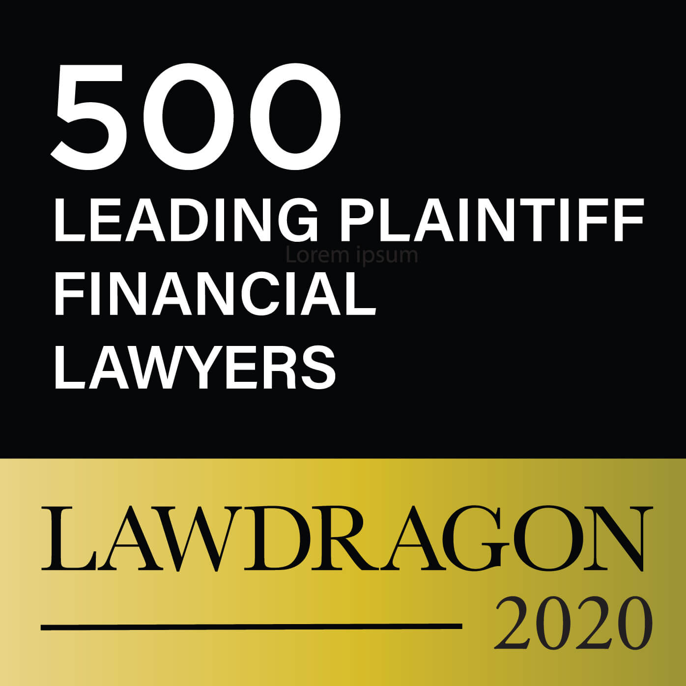 2020 Plantiff Financial Lawyer